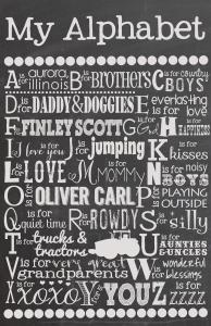 Custom Chalkboard Alphabet Print