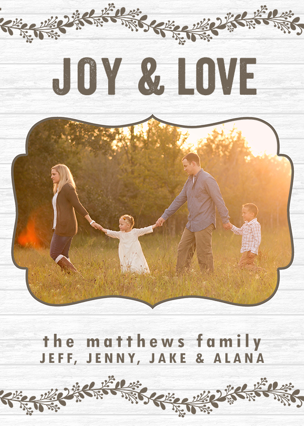 Farmhouse Chic Holiday Card