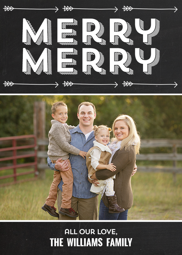 Merry Arrows Holiday Card