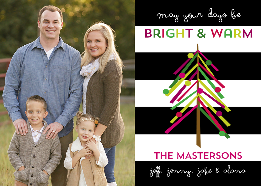 Modern Color Blocks Holiday Card