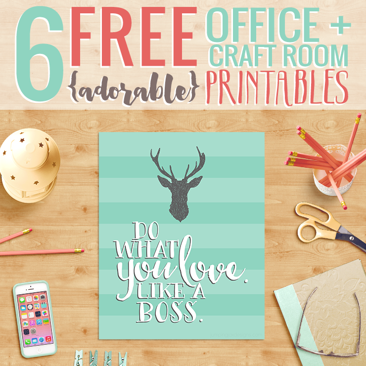 6 Free Office Printables by JumpingJaxDesigns