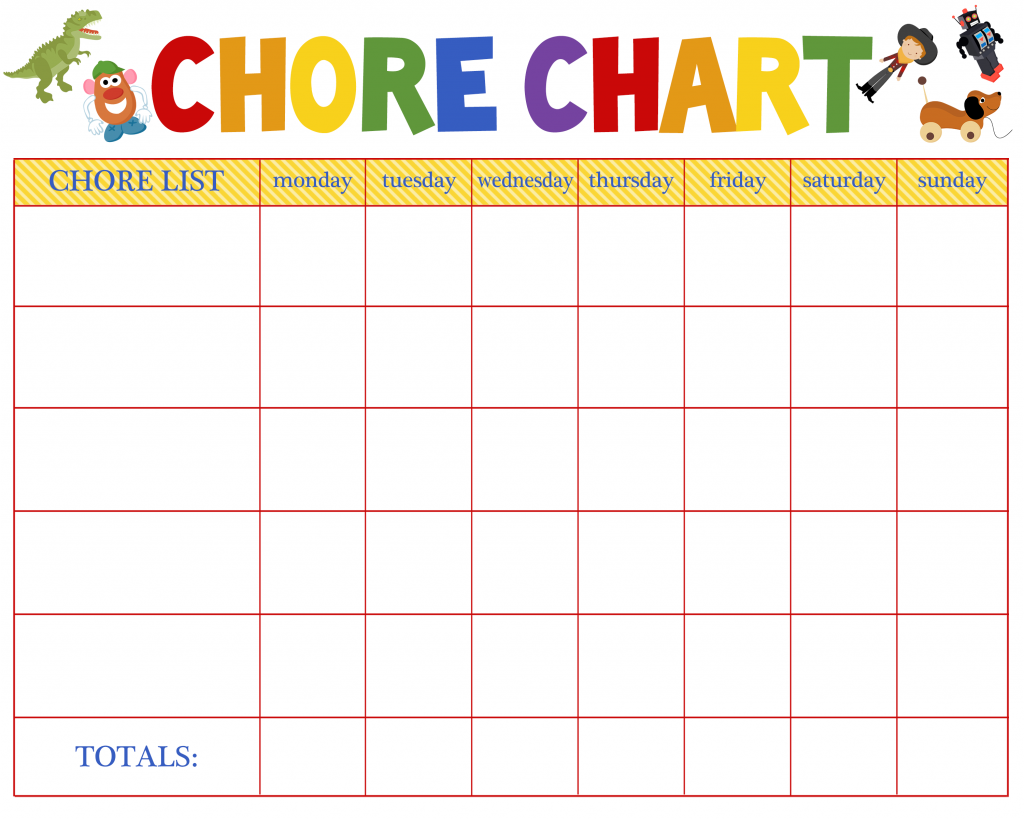 This is a photo of Geeky Chore Chart Printable