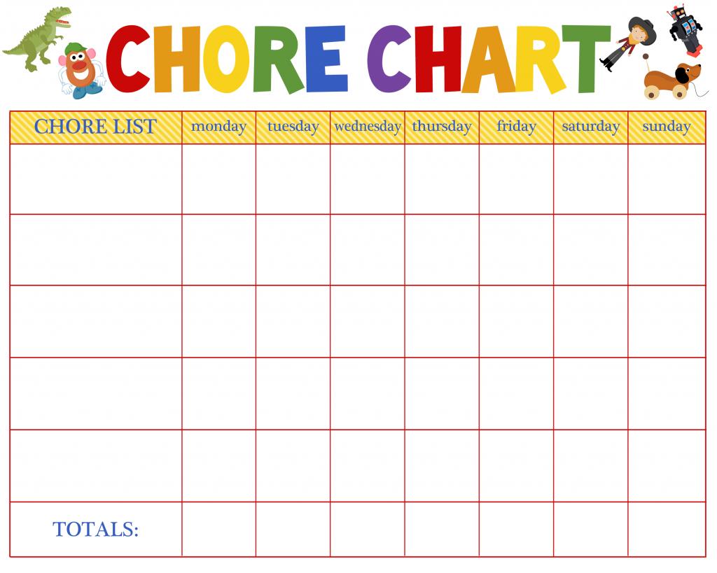Chore Chart Blank