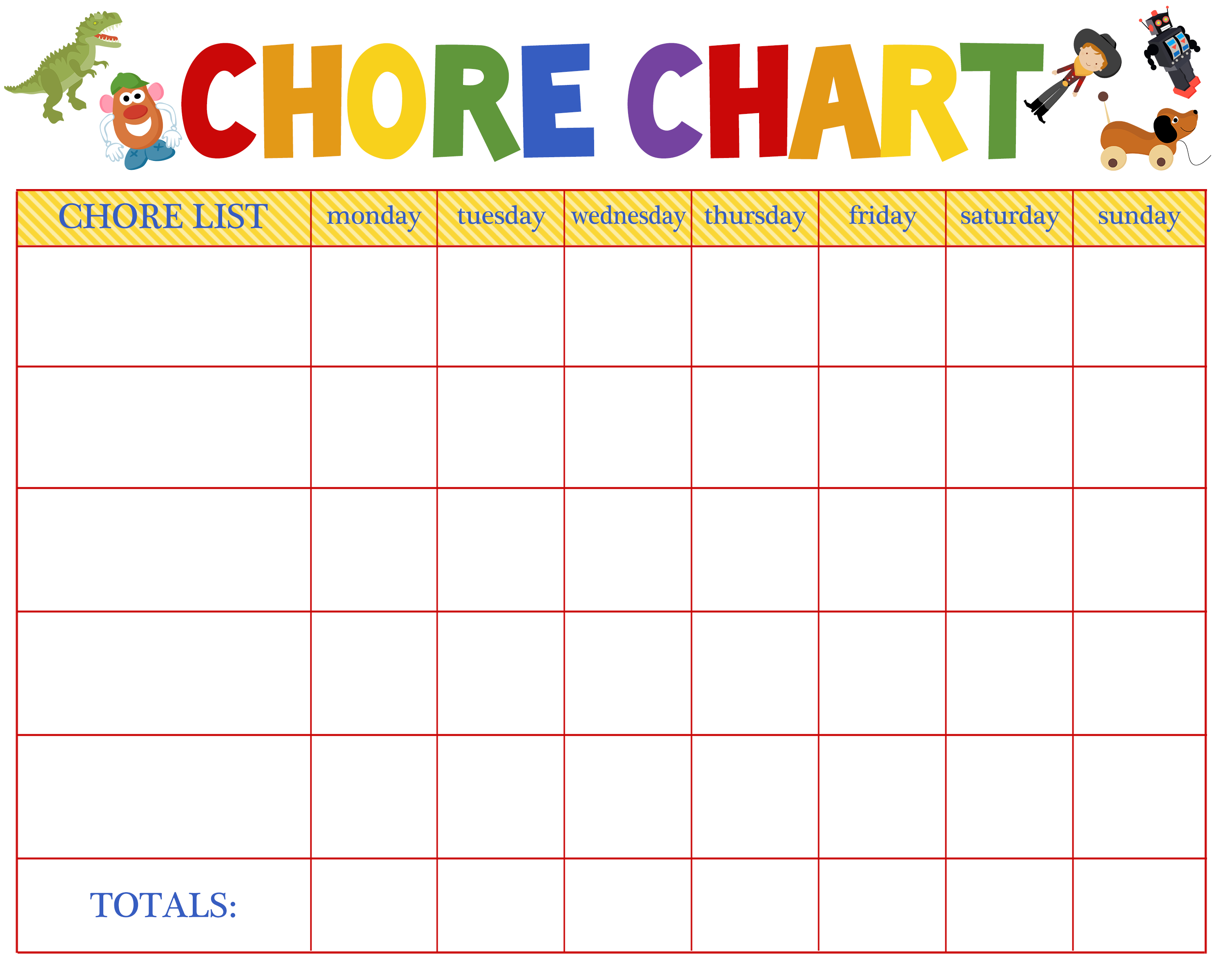 Free behavioral aid printables jumping jax designs for Chore list template for kids