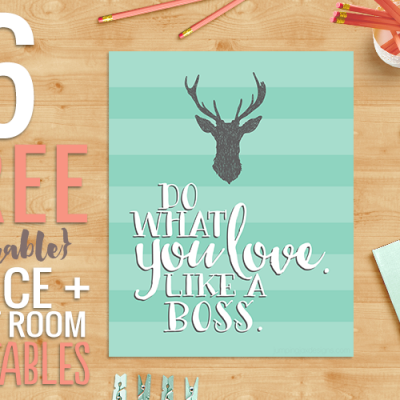 6 FREE Office + Craft Room Printables