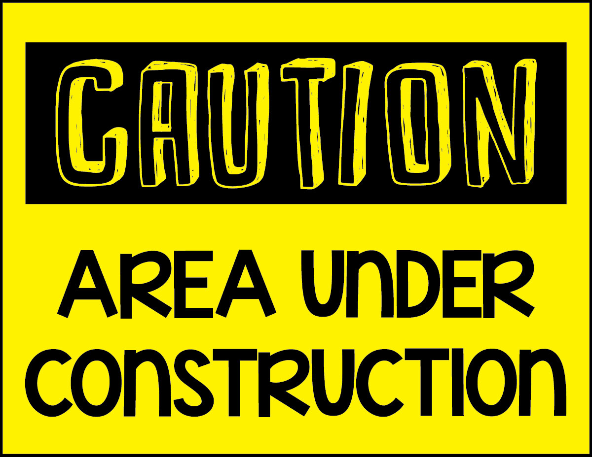 image about Construction Signs Printable titled Trainer Freebie: \