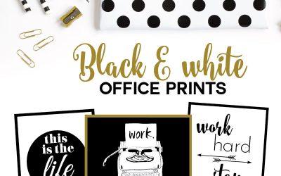 Freebie: Black & White Office Prints