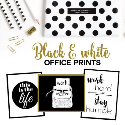 Freebie: Black & White Office Prints