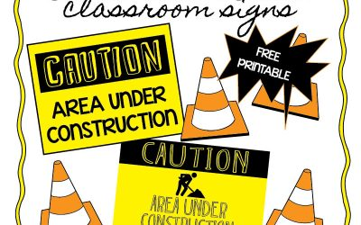 "Teacher Freebie: ""Under Construction"""