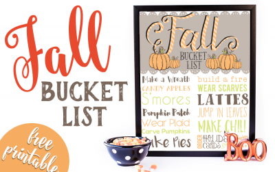 Free Printable: Fall Bucket List