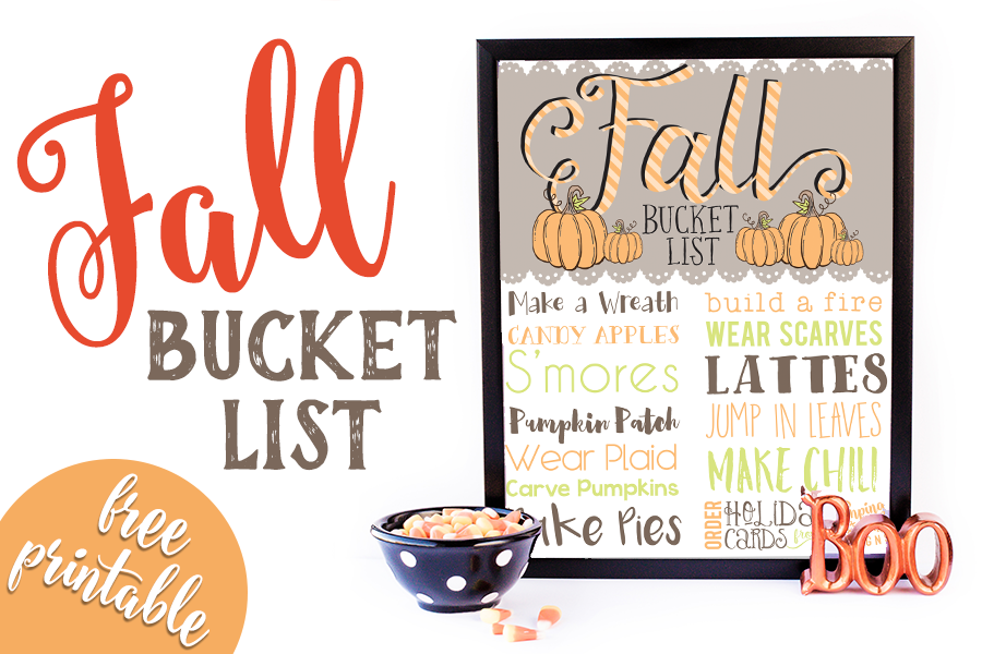 Free Printable: Fall Bucket List