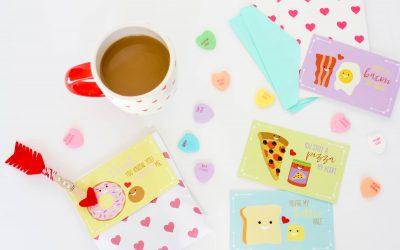 """Free Printable: """"Foodie Friends"""" Valentines"""