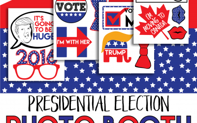 Free Printable: Presidential Election Photo Booth Props