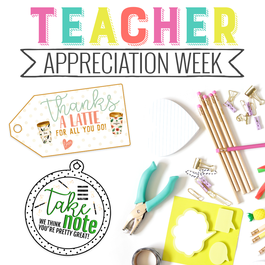 picture regarding Teacher Appreciation Printable Tags identified as Trainer Appreciation Printable Tags Freebie - Leaping Jax