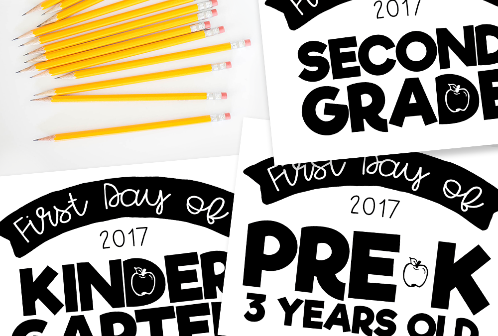 Freebie: Back to School Signs 2017