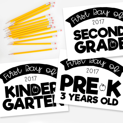 Freebie: Back to School Signs 2017