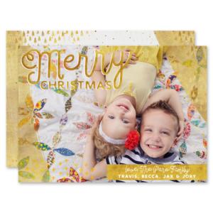 Golden Merry Card