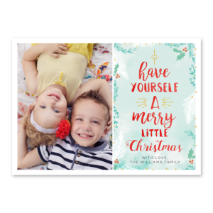 Merry Little Greetings Card Front